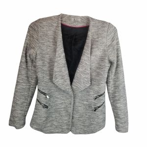 JULES and LEOPOLD COTTON POLYESTER BLEND JACKET. GRAY BLACK.